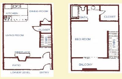 799 sq. ft. floor plan