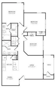 1,247 sq. ft. Sterling floor plan