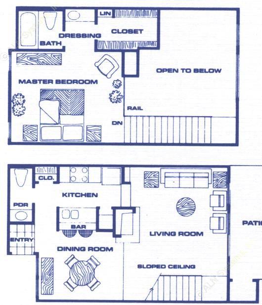 846 sq. ft. A4 floor plan