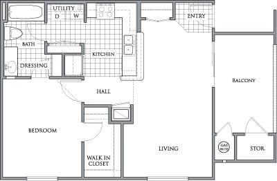 706 sq. ft. to 720 sq. ft. PREAKNESS/60 floor plan