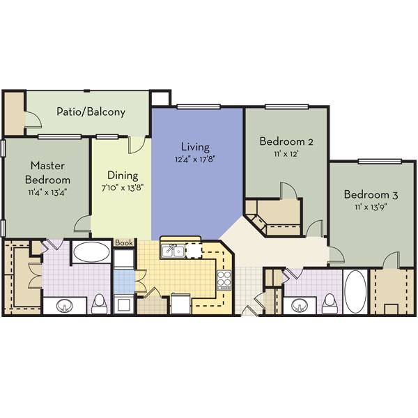 1,440 sq. ft. PARADISE KEY floor plan