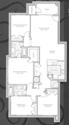 1,441 sq. ft. Bellerive floor plan