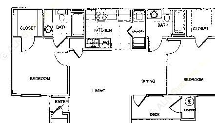 912 sq. ft. B1 1/60 floor plan