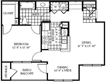 750 sq. ft. 60 floor plan