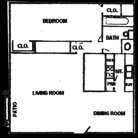 612 sq. ft. floor plan