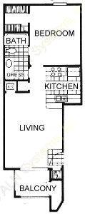 565 sq. ft. floor plan
