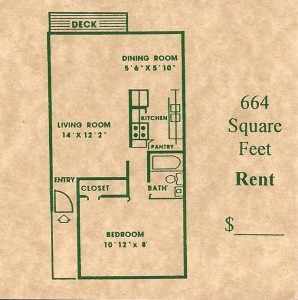 664 sq. ft. floor plan