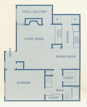 775 sq. ft. A8 floor plan