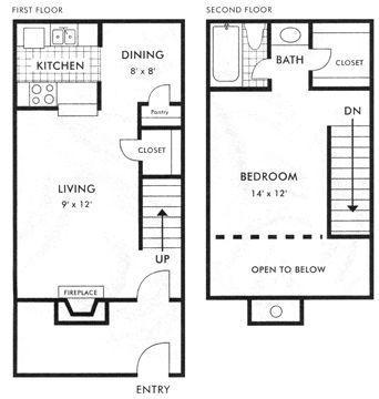 813 sq. ft. floor plan