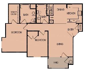 1,050 sq. ft. 60 floor plan