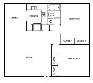 1,000 sq. ft. EDEN floor plan