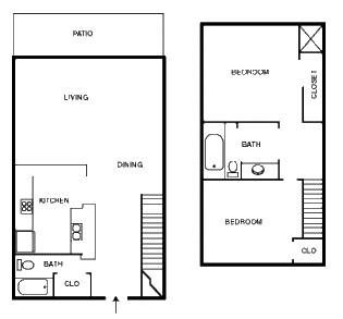 1,000 sq. ft. MECCA floor plan