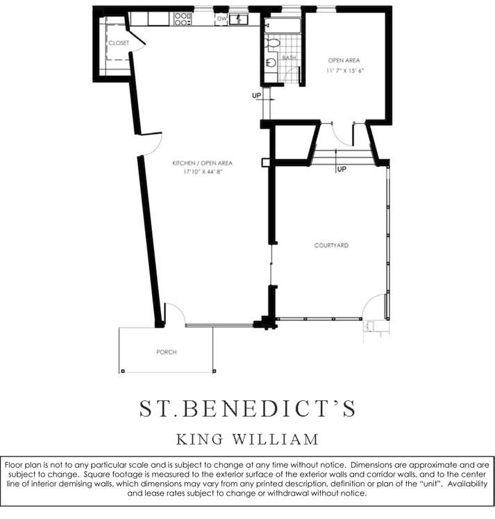 1,231 sq. ft. L/W floor plan