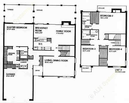 2,800 sq. ft. H floor plan