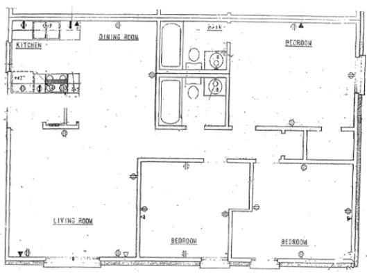 967 sq. ft. floor plan