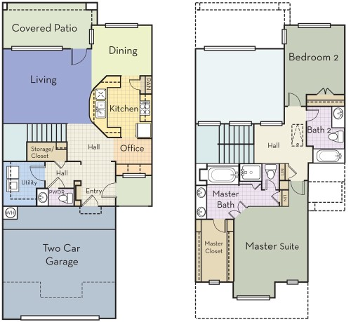 1,850 sq. ft. B2.5BT floor plan