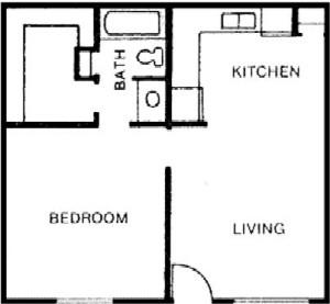 552 sq. ft. floor plan