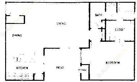 825 sq. ft. A2 ABP floor plan