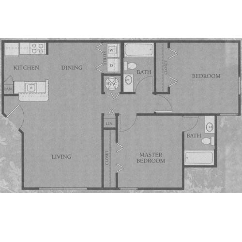 893 sq. ft. 50 floor plan