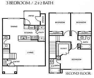 1,192 sq. ft. D/60 floor plan