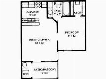 473 sq. ft. floor plan