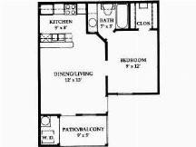 473 sq. ft. floor plan