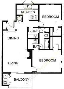 941 sq. ft. floor plan