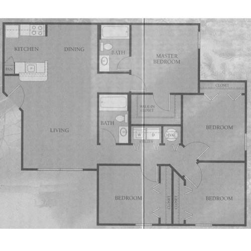 1,240 sq. ft. 50 floor plan