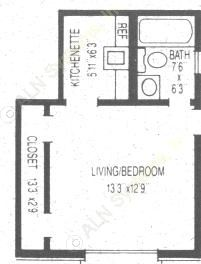300 sq. ft. floor plan