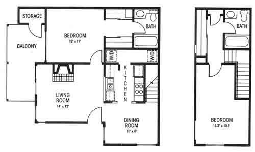 978 sq. ft. C floor plan