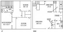 1,278 sq. ft. floor plan