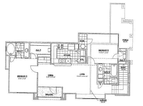 989 sq. ft. F2/60% floor plan