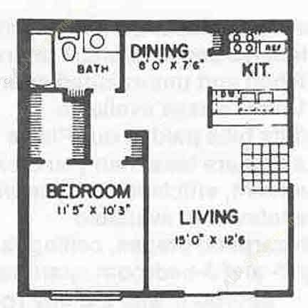 520 sq. ft. I ABP floor plan