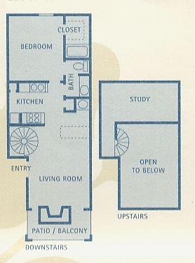 753 sq. ft. A7 floor plan