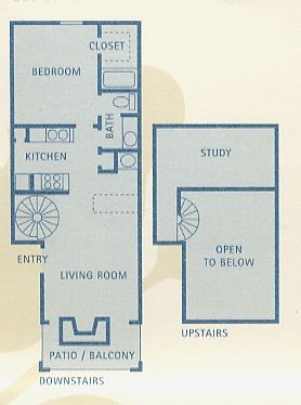 753 sq. ft. A7 floor plan