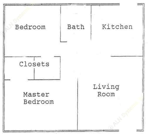 760 sq. ft. floor plan