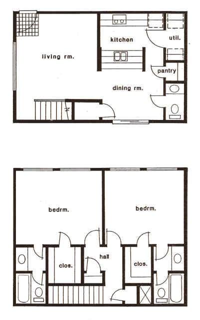 1,175 sq. ft. A/B floor plan