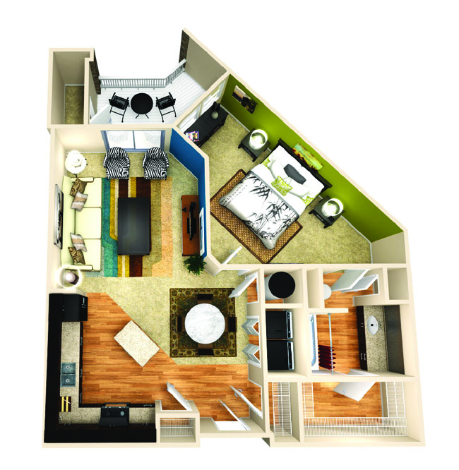 825 sq. ft. Inspire floor plan