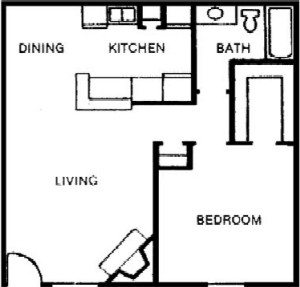 674 sq. ft. floor plan