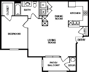 800 sq. ft. 50 floor plan