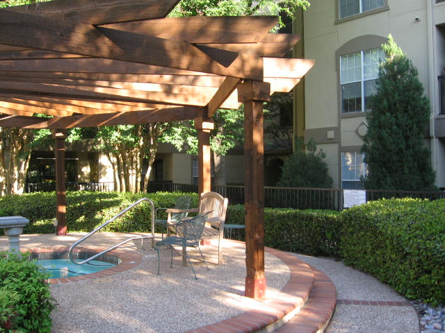 hot tub at Listing #136640