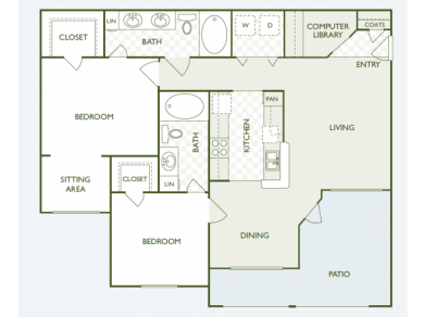 1,189 sq. ft. B8.2 floor plan