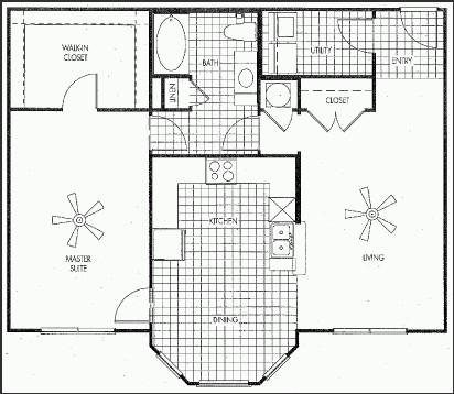 1,017 sq. ft. NORTH HAVEN floor plan