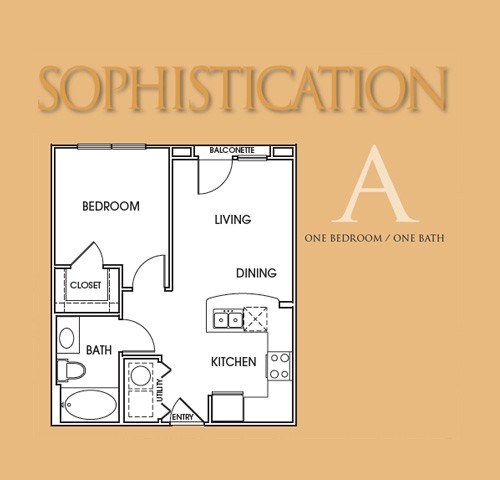 540 sq. ft. A floor plan