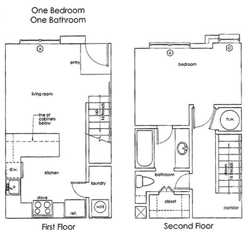 710 sq. ft. A1 floor plan