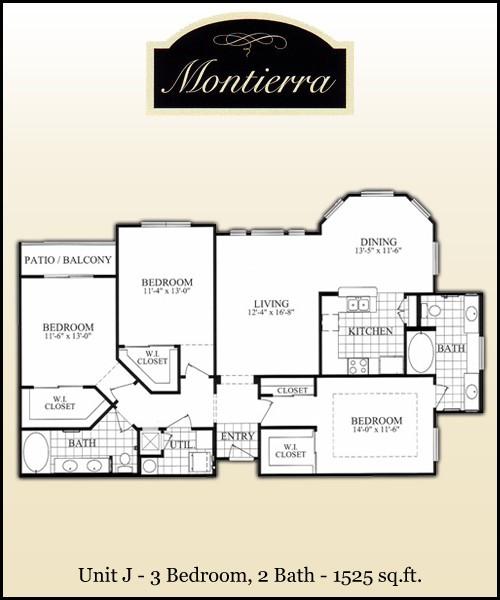 1,525 sq. ft. J floor plan