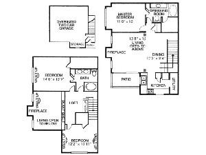 1,468 sq. ft. C1 floor plan