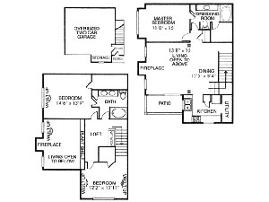 1,468 sq. ft. C1 floor plan