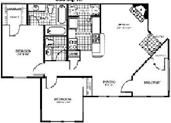 850 sq. ft. MARBLE floor plan