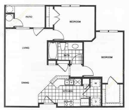 900 sq. ft. 50 floor plan